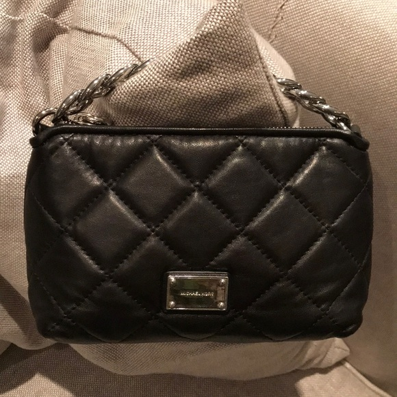 MICHAEL Michael Kors Handbags - MICHAEL Michael Kors Quilted Black Leather Clutch